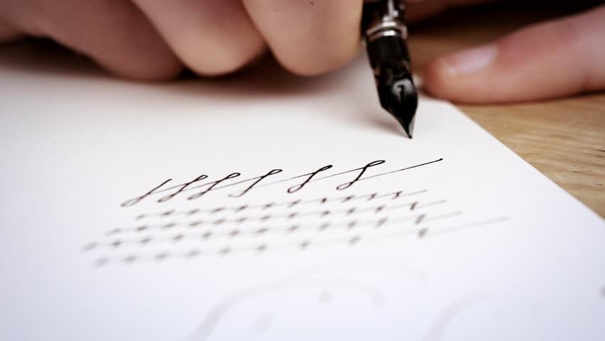 Stock video of a man dips his pen in 4090909 shutterstock altavistaventures Gallery