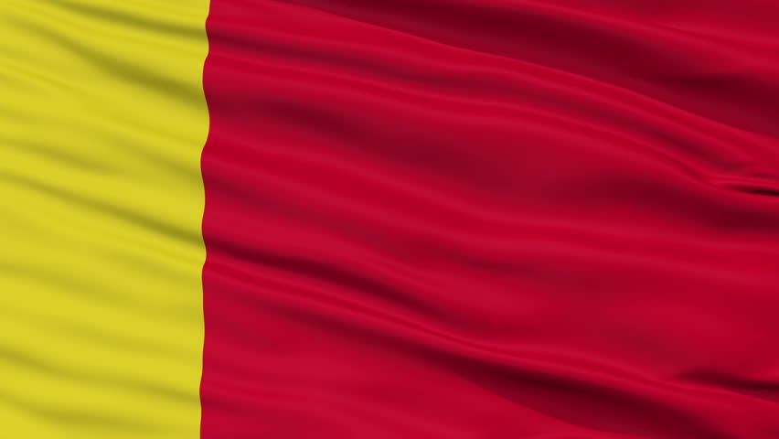 Moroni Capital City Flag of Comoros, Close Up Realistic 3D Animation, Seamless Loop - 10 Seconds Long
