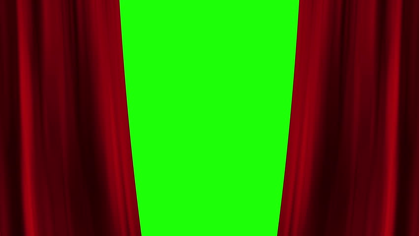 Opening and closing red curtain front of green screen. theater stage cinema intro. full hd and 4k. | Shutterstock HD Video #16624540