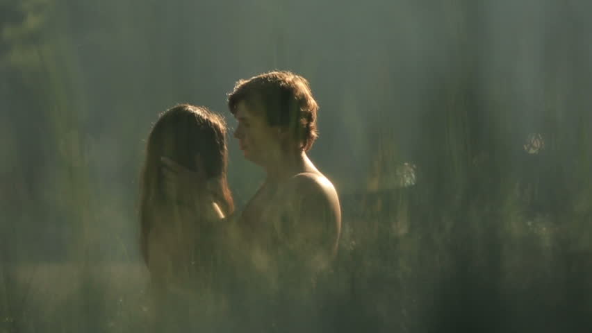 Beautiful Kiss Of Gorgeous Couple In Love In The Green -9613