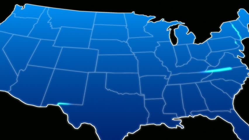 USA Map Pulsing