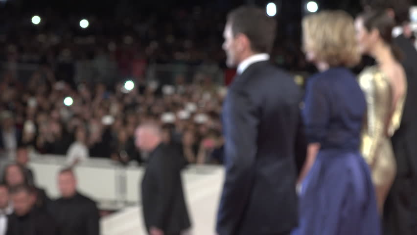 Cannes - May 15: Cast of Mal De Pierres (Marion Cotillard, Louis Garrel, Alex Brendem\xD9hl, Nicole Garcia) with press photographers leaving the Palais after screening at the Cannes Film Festival 2016 | Shutterstock HD Video #16694338