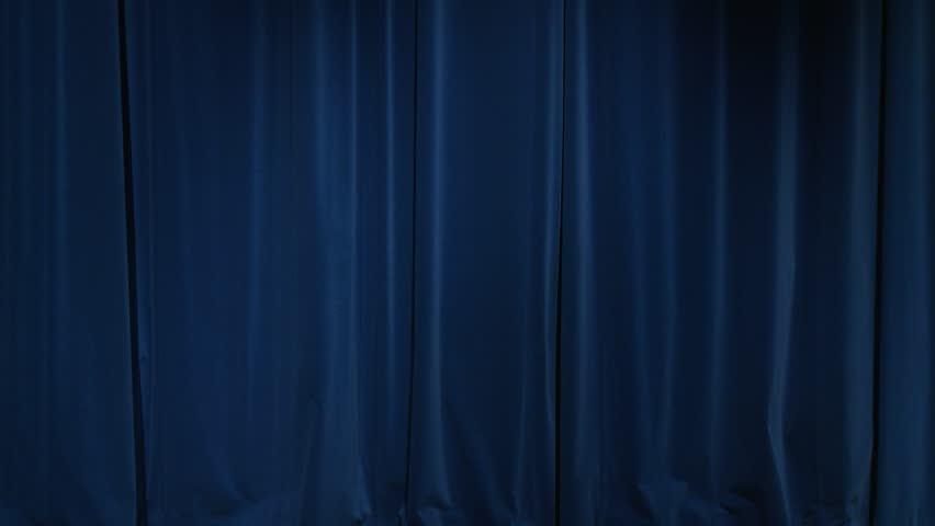 Theatrical Curtain Dark Blue Theatrical Curtain Before Or After ...