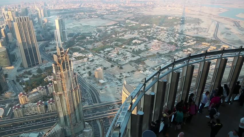 Uae Dubai January 31 2016 People On Observation Deck