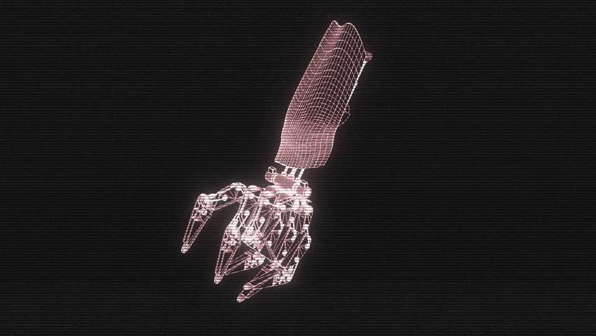 Robo Hand 3D Hologram Loop