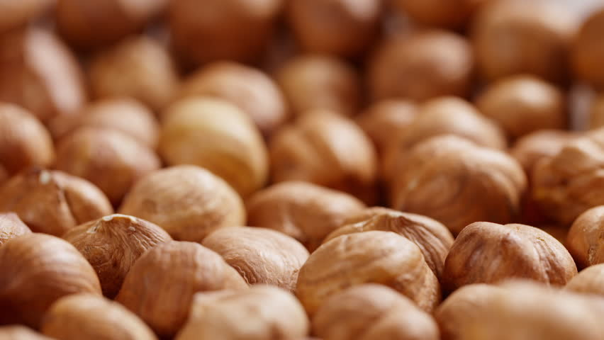 hazelnut falling in 180fps slow motion, prores footage