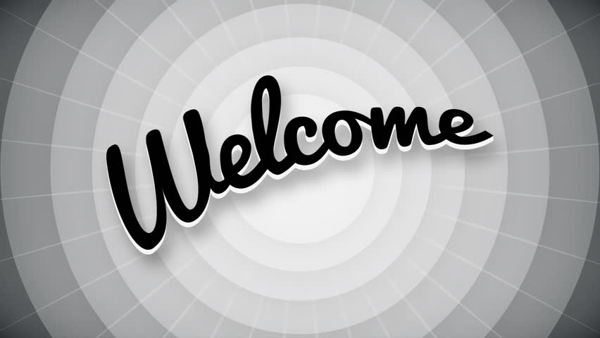 Welcome typography old movie animation title screen. full hd.