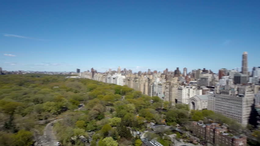 Aerial view of Central Park with Manhattan skyline in New York City | Shutterstock HD Video #16783180