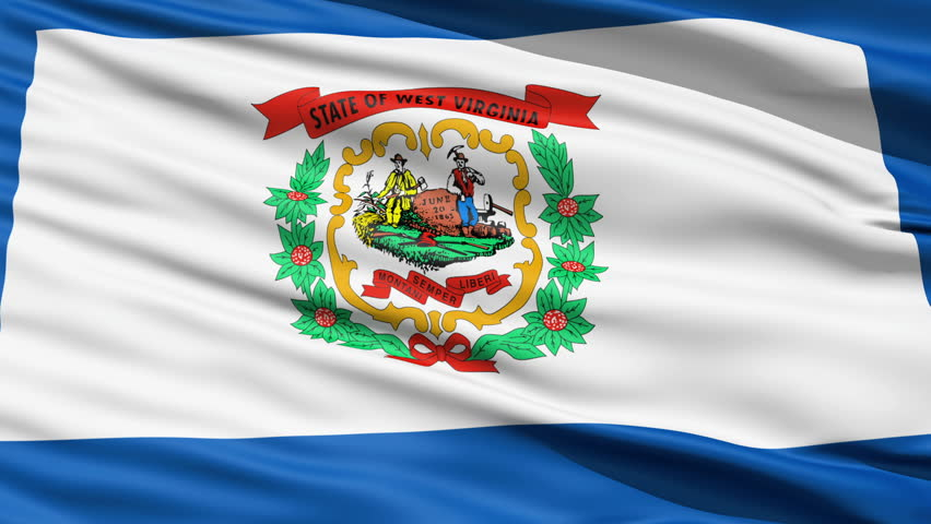 Waving Flag StateWaving Flag of State Of West Virginia, America with the