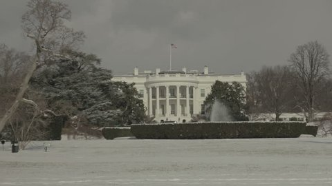 View of the south lawn of the White House. Washington DC - USA: January, 2016