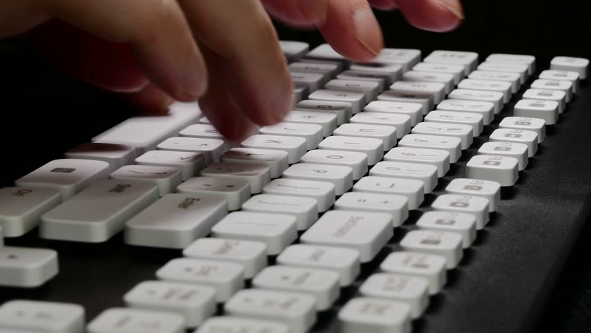 Ungraded: Hands On Keyboard Typing Stock Footage Video (100% Royalty-free)  16862920 | Shutterstock