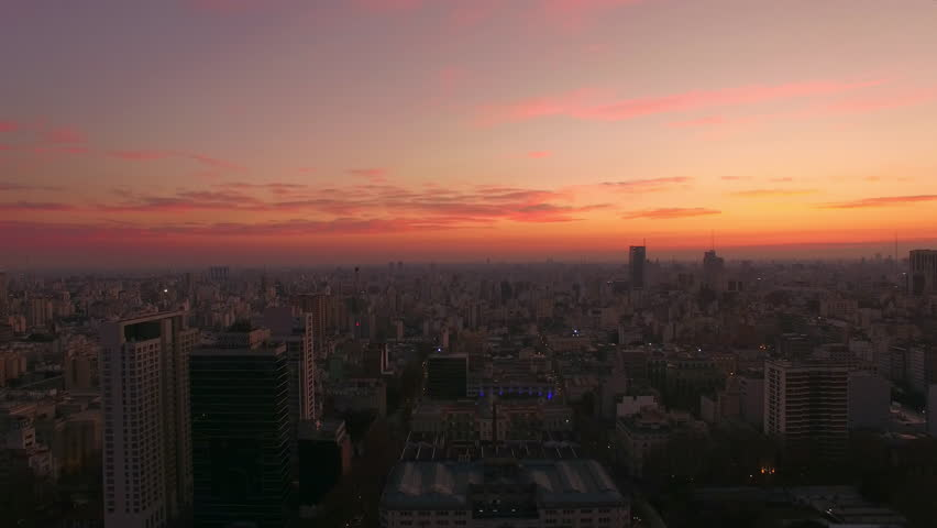 Buenos Aires, Argentina - November 23, 2015: Sunrise, Buenos Aires, Argentina | Shutterstock HD Video #16900687