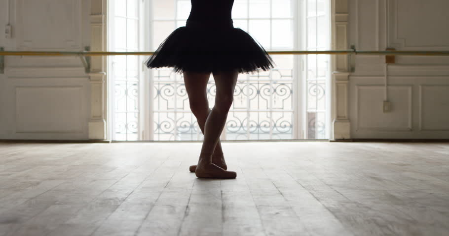 Buenos Aires, Argentina - February 27, 2015: Ballet dancer performing a pirouette, slow motion