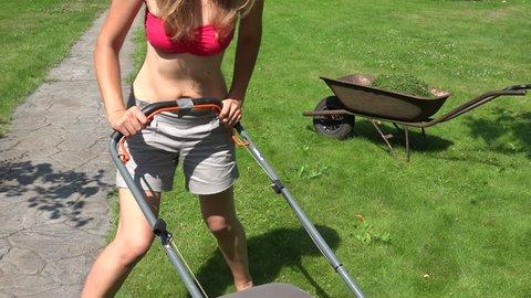 Female Farmer Start Lawn Mower Stock Footage Video (100% Royalty-free)  16939840 | Shutterstock