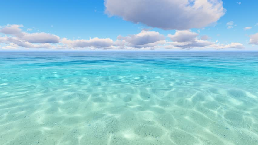 Peaceful and calm shot of a gently lapping sea and nice sky stock footage video 16990927