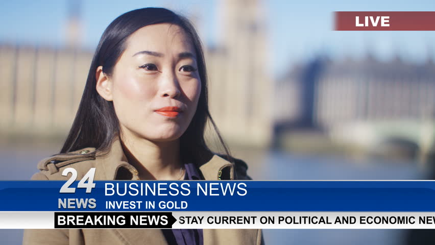 4K Businesswoman or politician giving live interview to reporter in London UK - April, 2016 | Shutterstock HD Video #16992280