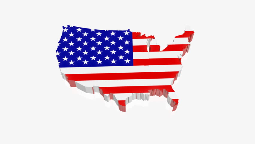 USA Map Stock Footage Video Shutterstock - Us map hd