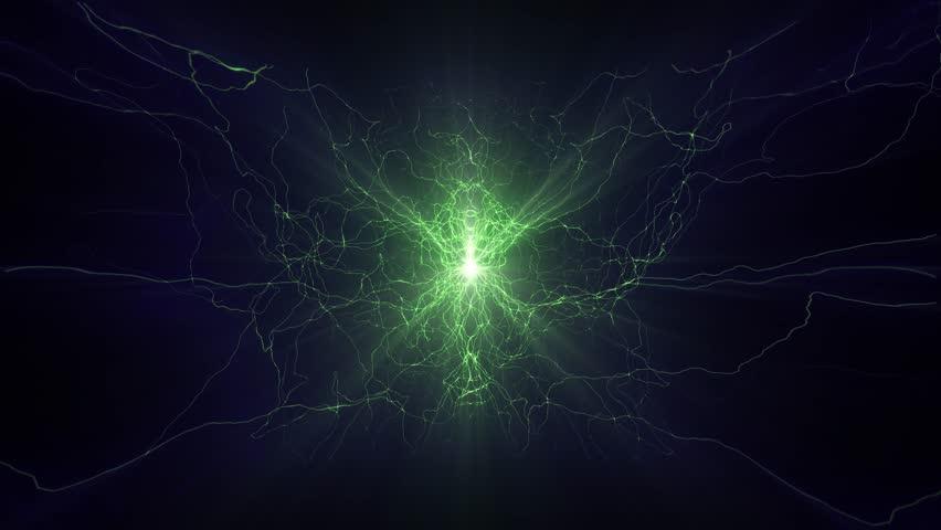 Lightning electrical arcs sci fi power reactor orb future voltage tech glow 4k   Shutterstock HD Video #17025370