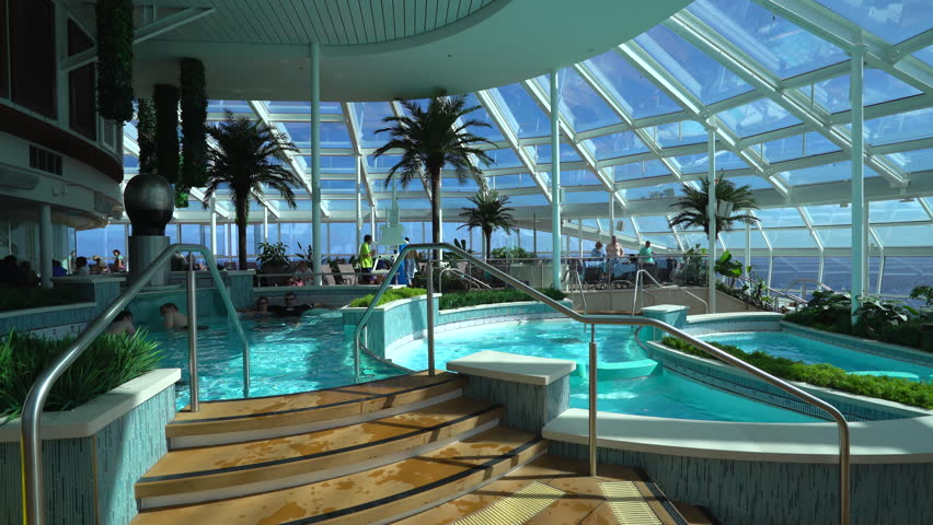 Indoor Pool Deck In The Cruise Ship December 2015