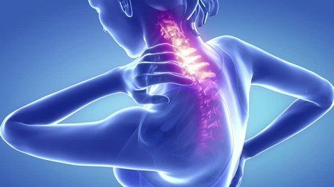 Spine pain in sacral region - backbone concept