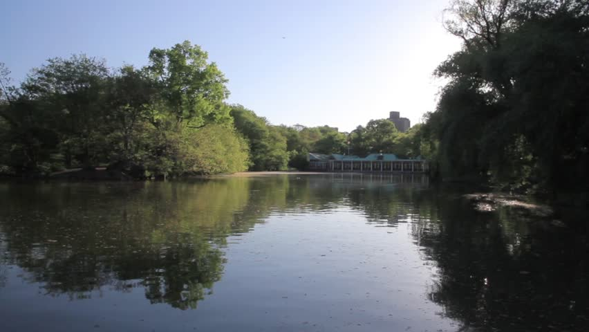 Central park Lake New York Beautiful shot of Central park Lake New York  | Shutterstock HD Video #17195770