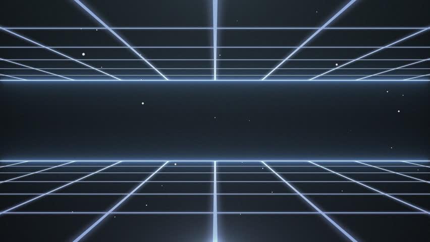 Retro futuristic,Seamless loop.