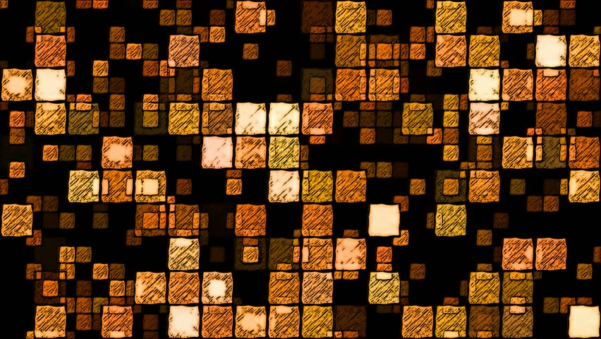 Abstract Sketchy Glowing Squares Background - Loop Orange | Shutterstock HD Video #17231080