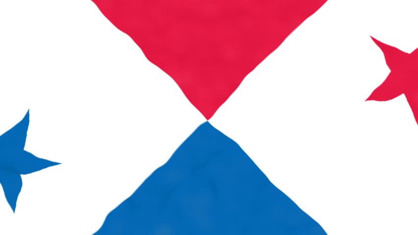 Flag of Panama. Official Panama flag. Waving Panama flag. Copa America | Shutterstock HD Video #17243227