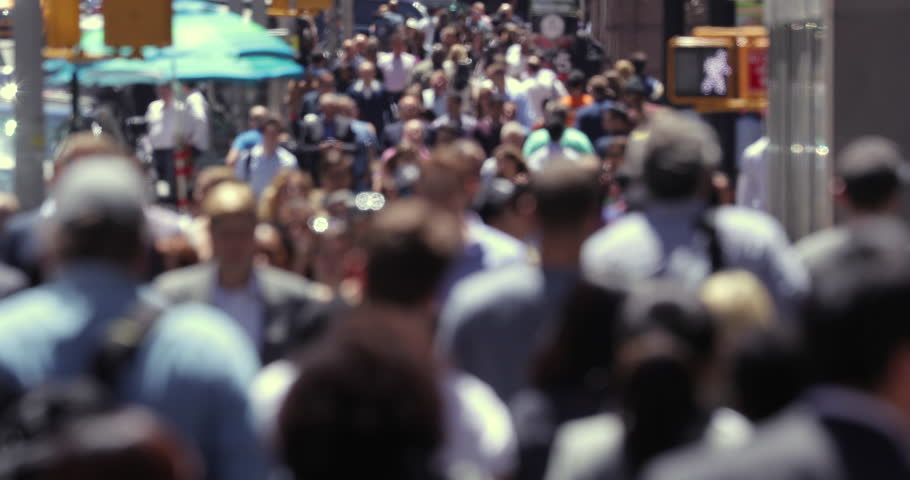 Anonymous crowd of people walking street in New York City | Shutterstock HD Video #17277400