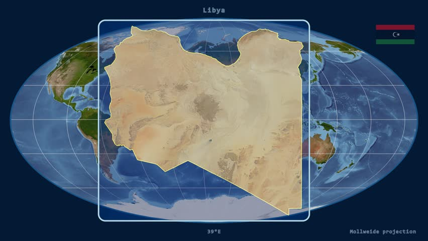 Libya Map Stock Footage Video Shutterstock - Hd satellite map