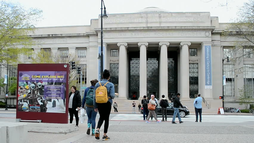 BOSTON, MA - APR 25: The Massachusetts Institute of Technology (MIT) campus on April 25, 2016 in Cambridge, Boston, USA. The MIT is a private research university in Cambridge, MA, founded in 1861.