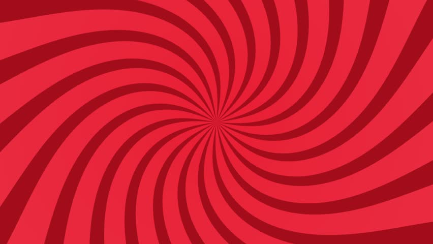 Seamless Loop Spinning Background. Red And White Twisted ...