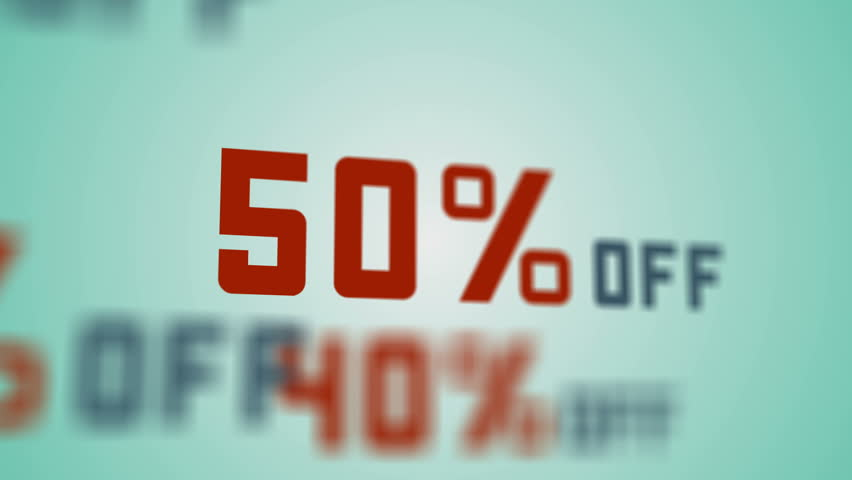 Special offer, sale, big discounts percent. Animation reduced prices with percentages. 4K UHD background seamless loop.