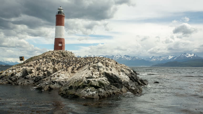 """""""Les Ã?claireurs"""" lighthouse in the Beagle Channel, Ushuaia"""