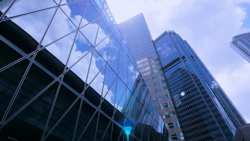 Office Building With Sun Flare Stock Footage Video 100 Royalty