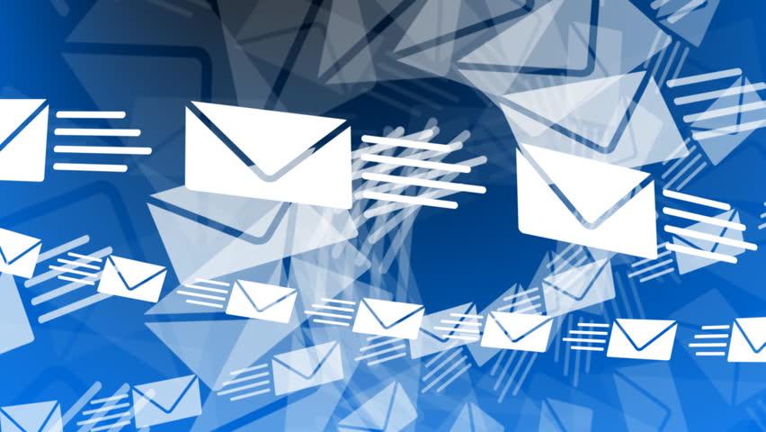 Email Envelopes Flying Animation