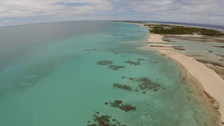 Drone in Tikehau, Tahiti , French Polynesia | Shutterstock HD Video #17554630