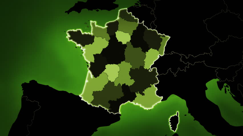 Map Of France Showing Airports.Highly Detail Map Of France Stock Footage Video 100 Royalty Free