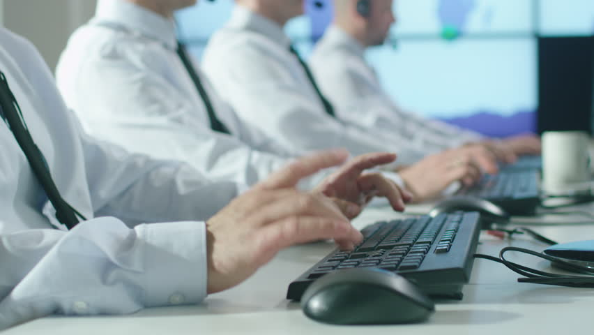 Team of Customer Support Professional in Call Center Office. Shot on RED Cinema Camera in 4K (UHD). | Shutterstock HD Video #17573623