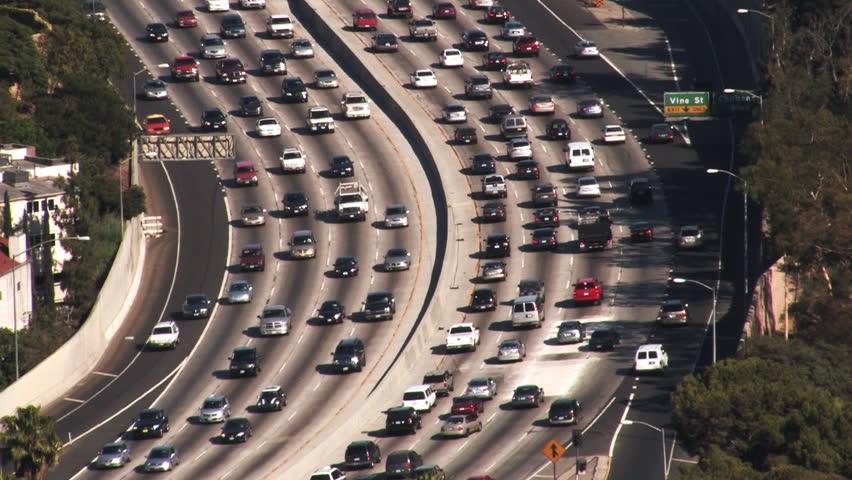 Los Angeles 101 Freeway Traffic HD