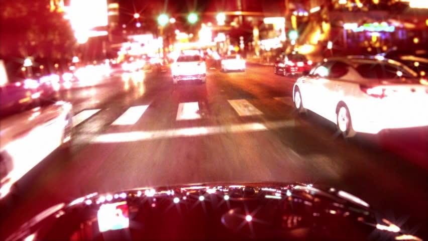 Light Reflections on Car Camera POV