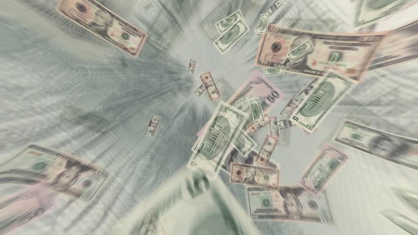 Money Dollar Bills Flying | Shutterstock HD Video #1761530