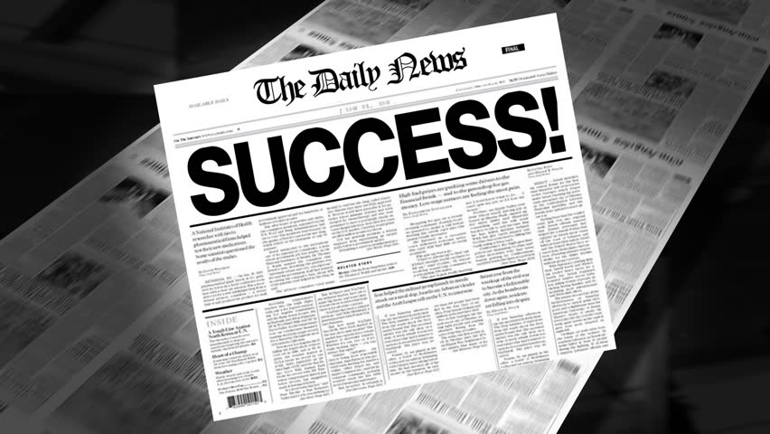 Success! - Newspaper Headline Reveal + Loops