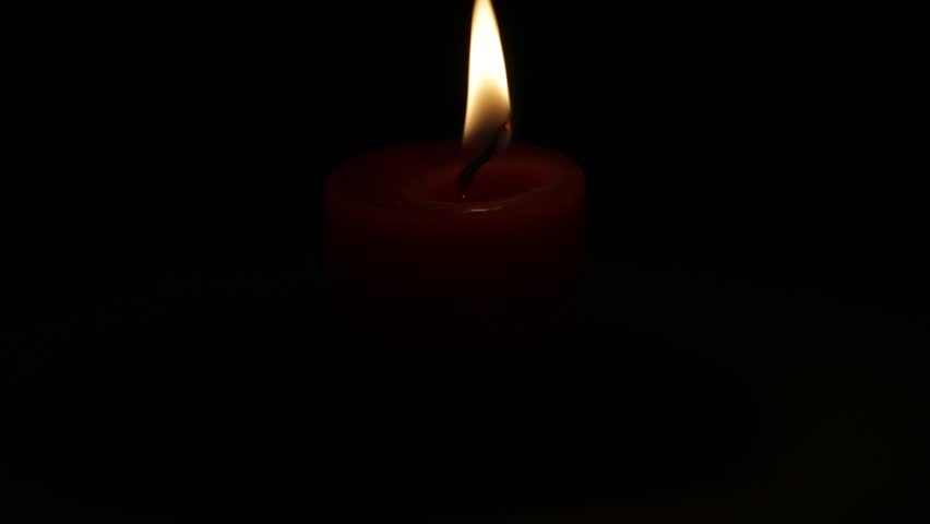 Candlelight Color Against Black Background Stock Footage Video
