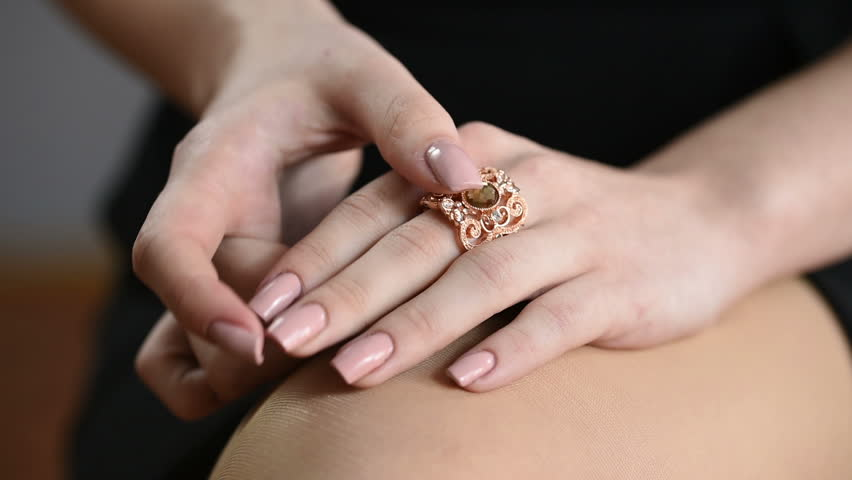 Jewellery ring worn on the finger. ring with colored stones