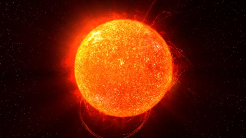 Sun on Fire HD Animation Loop