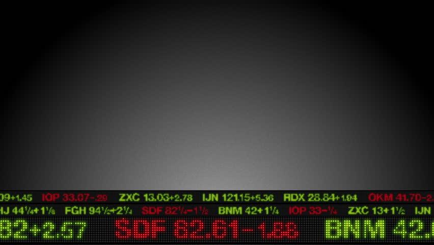 Stock Market Tickers Price Data Animation