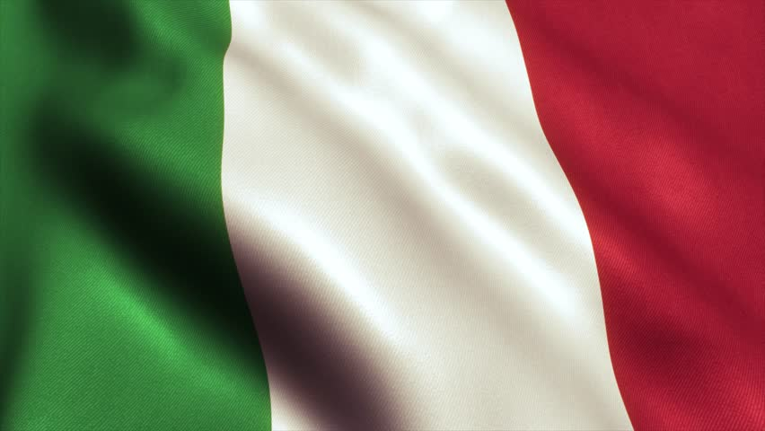 Italy - Italian Flag. Seamless Looping Animation. 4K High Definition Video