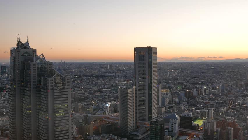 Tokyo city view in shinjyuku, japan   Shutterstock HD Video #17727700