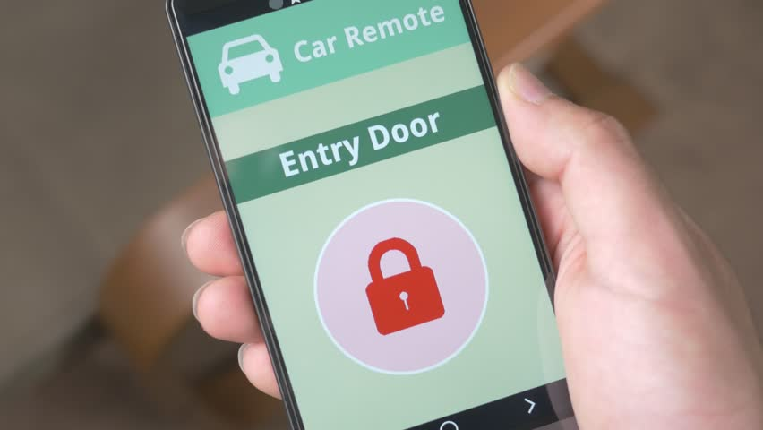 Unlocking car's doors with a smartphone app.